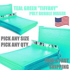Teal Green Poly Bubble Mailers Padded Envelope Protective Packaging Pouch Bags