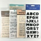 Mixed Lot Of 4 Alphabet Clear Stamp Sets Letters Numbers Upper Lower Case