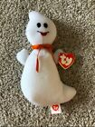 TY Beanie Baby - SPOOK the Ghost (3rd Gen Hang Tag - MWMTs) Rare, Not Spooky!
