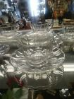 5 Vintage Tea Cups and Saucer Sets. Clear Glass. No chips cracks. Beautiful