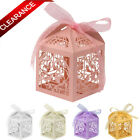 Clearance  100Pcs Ribbon Gift Favor Boxes Candy Bags Wedding Party Baby Shower