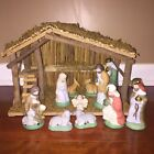 Vintage Sears Nativity Set Stable with 11 Figures Christmas Decoration 7197930