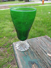 Forest Green Ice Tea Footed Anchor Hocking Boopie Goblet Vintage