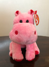 Ty Beanie Baby ~ BIG KISS the Red/Pink Hippo (6.5 Inch)
