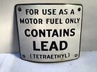 Vintage Lead Gas Pump Porcelain Sign Can Oil Metal rare tin handy Shell Sunoco 4