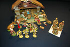 Vintage Nativity Manger Set Italian