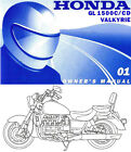2001 HONDA GL1500C / CD VALKYRIE MOTORCYCLE OWNERS MANUAL -GL1500-GL