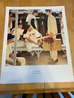 Norman Rockwell baseball Poster,THE ROOKIE,Boston Red Sox,Spring Training '57