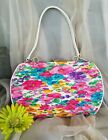 Vintage Pleated Colorful Floral Purse Bold n Bright Easterly Design