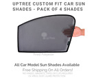 4Pack Custom Fit Car Window UV Sun Shades for JEEP WRANGLER 2014 to 2018 MODEL