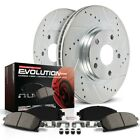 K3097 Powerstop Brake Disc and Pad Kits 2 Wheel Set Front New for Jeep Wrangler