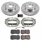 KCOE6755 Powerstop Brake Disc and Caliper Kits 2 Wheel Set Front New for S Class