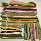 Needlepoint Embroidery Cotton Floss Thread 50+ Skeins Hand-dyed Various Colors