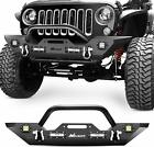 Nilight Front Bumper for 07 18 Jeep Wrangler JK Rock Crawler 4x LED Winch Plate