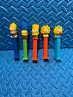 the simpsons Family Pez 5 Lot Loose Homer Marge Bart Lisa Maggie