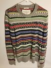 120 Mens Abercrombie  Fitch Pattern Muscle Sweater Wool Knit New With Tags