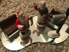 Lemax Christmas village scene figures 16  piece assortment outhouse & well