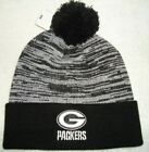 GREEN BAY PACKERS NFL TEAM APPAREL BLACK AND WHITE KNIT BEANIE HAT NEW WITH TAGS
