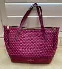 Cole Haan Pink and Red Shoulder Bag Purse