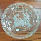 Mikasa Nativity Scene Christmas Plate Embossed Frosted Crystal Germany 15 Round