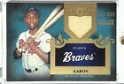 2011 Topps Tier One HANK AARON 142 399 Game Used Jersey PATCH Relic Braves HOF
