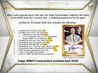 2020 Topps WWE Transcendent Collection Wrestling Case - May 2020 PRESALE 7 29