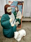 VTG Empire Shepherd with Sheep Blow Mold Nativity Christmas With Box