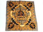 EXPRESS Womens Multi Color Tassels Lion Designs 100 Silk Scarf