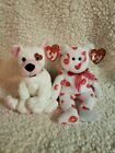 Ty Beanie Baby Smooch and Cupid Valentines