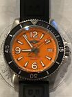 Mint Breitling Superocean Automatic 42 Orange Dial Men's Watch A17366D71O1S2