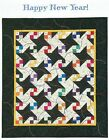 HAPPY NEW YEAR Pieced Embellished Wall Quilt Pattern from a Book Quilting