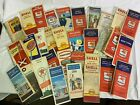 Vintage Road Maps 50's, 60's Mobilgas, Texaco, Shell Gas And Oil Lot Of 33