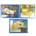 Harbor Freight Wooden Model Classic Car BuckHorn Wagon Horse & Carriage Lot of 3