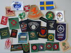 1963  1971 World Jamboree 30+ piece Embroidered and Woven Patch Badge lot