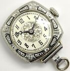 Vintage A. Lecoultre Blancpain 15 jewel ornate 25 year GF pendant watch running