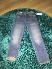 HM RHINESTONE HIGH WAISTED VINTAGE FIT JEANS SIZE 27 100 GENUINE NWT