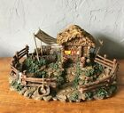 Vintage Fontanini Heirloom Nativity Lighted Village 1998 by Roman 16X12 Resin