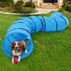 Dog Agility Equipment Training Blue Oxford Cloth Outdoor Tunnel Pet Exercise Run