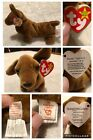 Ty Beanie Baby 1st Edition Retired Weenie Dog 1995 Tag Errors PVC Pellets