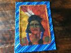 Textile Native American Indian Quilted Wall Hanging Warpaint by Artist
