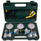 Hydraulic Testing Pressure Gauge Diagnostic Couplings Set Excavator 9000 PSI