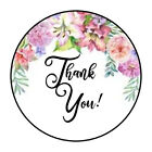 30 15 THANK YOU FLOWERS FAVOR LABELS ROUND STICKERS