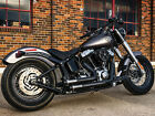 CRUSHER MAVERICK BLACK EXHAUST HARLEY SOFTAIL FLST HERITAGE FAT BOY CROSS BONES