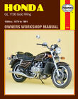 Haynes 1979-1981 Honda GL1100 Gold Wing Maintenance Repair Service Shop Manual