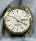 Vtg Caravelle Watch Automatic Set-O-Matic Dual-Day