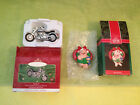 2 - Harley Davidson - Fat boy 2000 & Deck the Hogs 1992, Ornaments - Hallmark