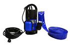 Hot Tub and Pool Submersible Drain Pump and 25 Water Hose Up To 2000 Gallons