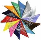 Bandana Face Mask Cover Paisley Multi color 100 Cotton Lot of 3 6 or 12 in
