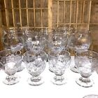 Mixed Lot 11 Pieces Vintage Libbey Rock Sharpe Chivalry Clear Glassware Glasses
