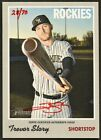 TREVOR STORY 2019 TOPPS HERITAGE REAL ONE RED INK AUTO AUTOGRAPH 70 *ROCKIES*